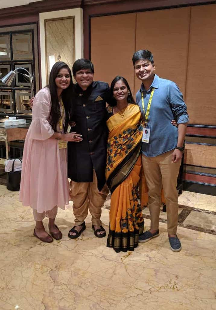 Hitesh and Shubhangi with their Teachers and Mentors – Dr. Newton and Dr. Lakshmi (Founder, Life Foundation)