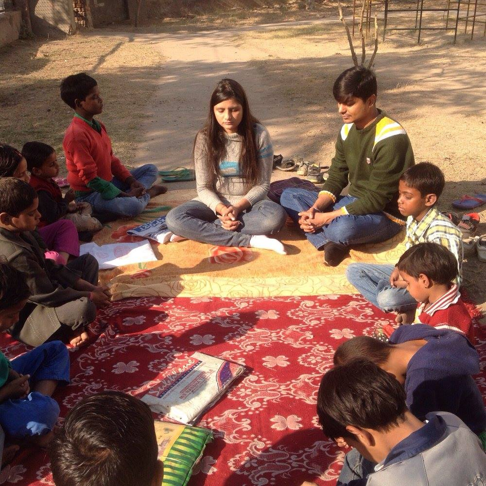Meditation with Premshala Children (2014)