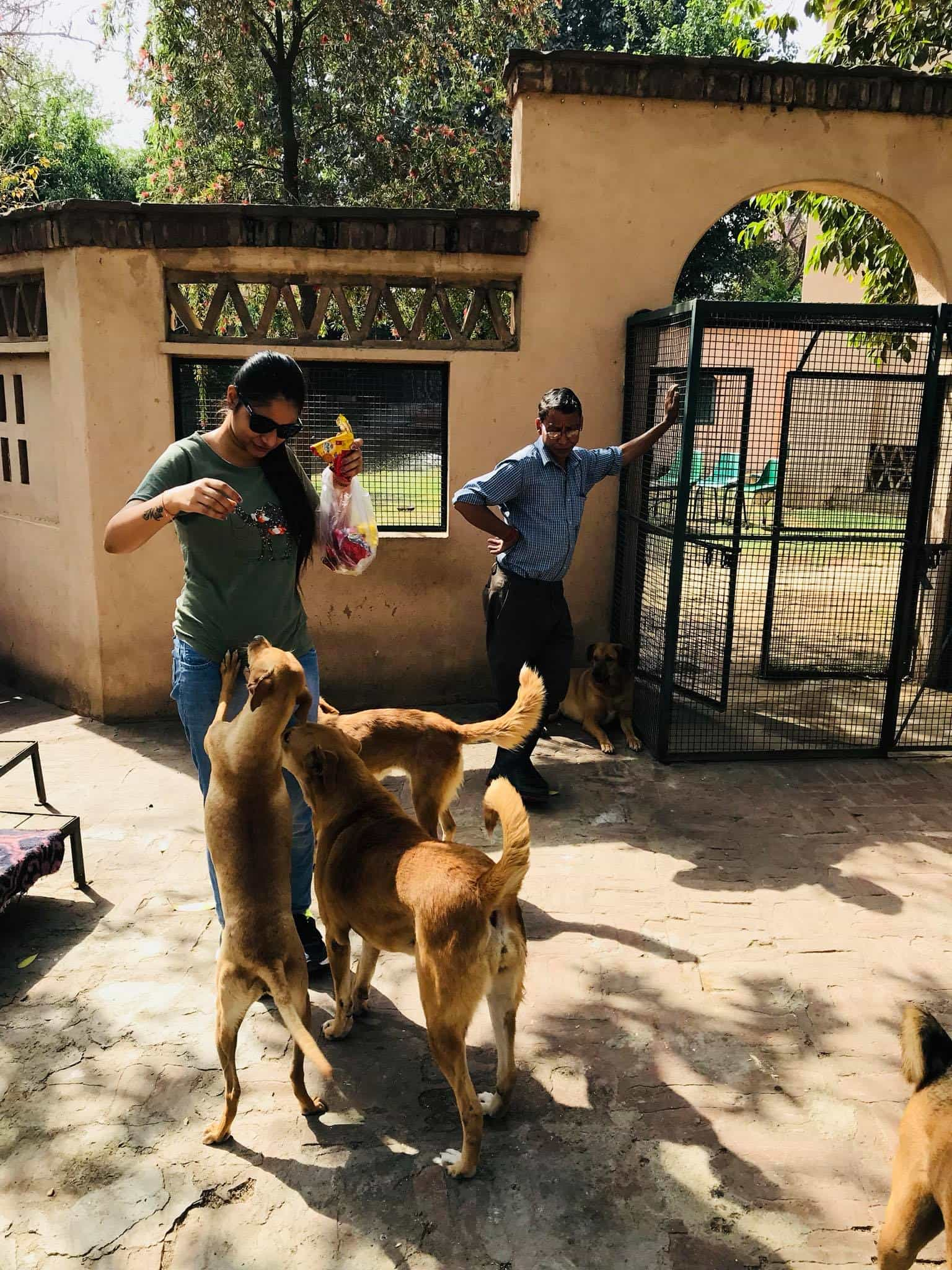 Shubhangi with our friends from the Animal Kingdom