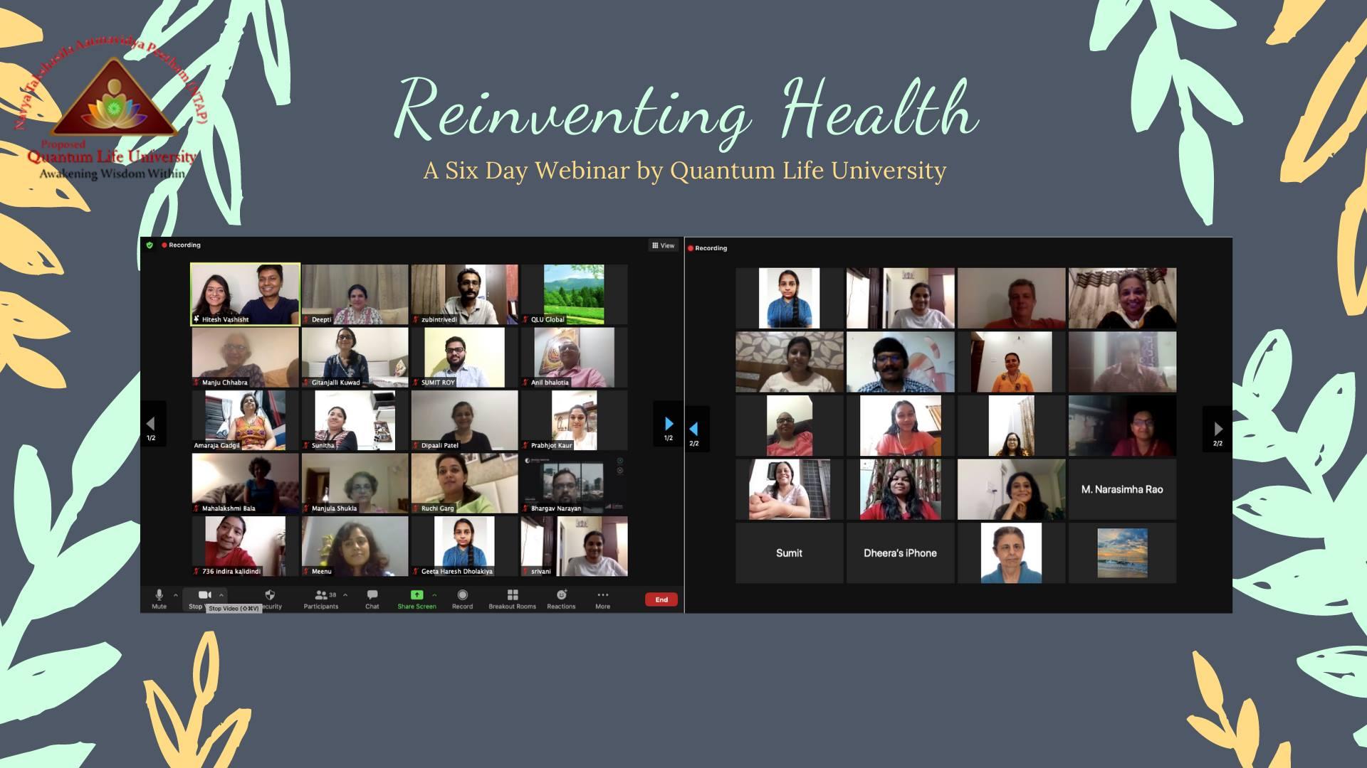 Reinventing Health Webinar (2020)