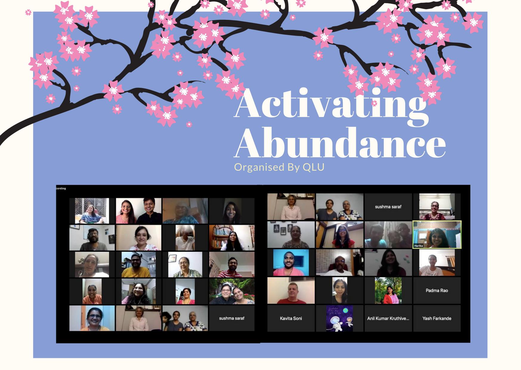Activating Abundance Webinar (2020)